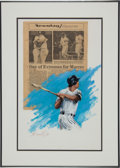 Baseball Collectibles:Others, 1981 Bobby Murcer Thurman Munson Tribute Newspaper with OriginalArtwork from The Bobby Murcer Collection. ...