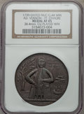 Betts Medals, 1739 Admiral Vernon, Fort Chagre, XF45 NGC. Betts-277, Adams-ChaoFCv 1-A, R.5. McC-G. 44. 38.4 mm. Copper-plated white meta...