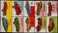 Non-Sport Cards:Lots, 1955 Topps World On Wheels Collection (66). ...