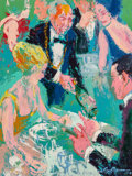 Mainstream Illustration, LeRoy Neiman (American, 1921-2012). The Sommelier, 1965. Oilon board. 47.75 x 36 in.. Signed and dated lower right. ...