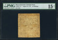 Colonial Notes:Massachusetts, Massachusetts August 18, 1775 24s PMG Choice Fine 15 Net.. ...