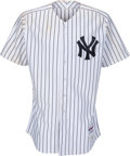Baseball Collectibles:Uniforms, 2011 Mark Teixeira Game Worn & Signed New York Yankees Jersey....