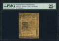 Colonial Notes:Pennsylvania, Pennsylvania January 1, 1756 20s PMG Very Fine 25 Net.. ...