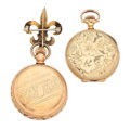 Timepieces:Pocket (post 1900), Hampden & Waltham Gold Filled Hunter's Cases. ... (Total: 2Items)