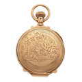 Timepieces:Pocket (post 1900), Illinois 14k Gold Box Hinge Hunter's Case Pocket Watch. . ...