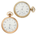 Timepieces:Pocket (post 1900), Two Elgin 17 Jewel Open Face Pocket Watches Runners. ... (Total: 2Items)