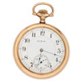 Timepieces:Pocket (post 1900), Elgin 21 Jewel Open Face Pocket Watch. ...