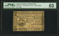Colonial Notes:South Carolina, South Carolina December 23, 1776 $3 PMG Choice Uncirculated 63.....