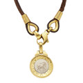 Estate Jewelry:Necklaces, Gold, Leather Necklace, Bvlgari. ...