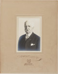 Baseball Collectibles:Photos, 1910's Morgan Bulkeley Signed Cabinet Photograph....