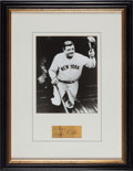 Baseball Collectibles:Others, 1930's Babe Ruth Signed Cut Display. ...