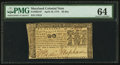 Colonial Notes:Maryland, Maryland April 10, 1774 $2 PMG Choice Uncirculated 64.. ...