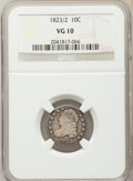 Bust Dimes, 1823/2 10C Small Es VG10 NGC. NGC Census: (3/101). PCGS Population(4/86). Mintage: 440,000. Numismedia Wsl. Price for prob...