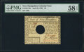 Colonial Notes:New Hampshire, New Hampshire April 29, 1780 $2 PMG Choice About Unc 58 EPQ.. ...