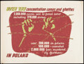 "Movie Posters:War, World War II Propaganda (Polish Government Information Center,Early 1940s). Propaganda Poster (34"" X 45"") ""Over 200 Concent..."