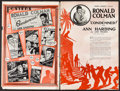 "Movie Posters:Drama, Condemned (United Artists, 1929). Uncut Pressbook (22 Pages, 12"" X 18""). Drama.. ..."