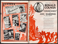 """Condemned (United Artists, 1929). Uncut Pressbook (22 Pages, 12"""" X 18""""). Drama"""