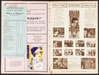 """What a Widow! (United Artists, 1930). Uncut Pressbook (22 Pages, 12"""" X 17.5""""). Comedy"""