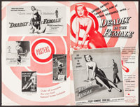 "Deadly is the Female (United Artists, 1949). Uncut Pressbook (16 Pages, Approx. 11"" X 17"") & Uncut Spa..."
