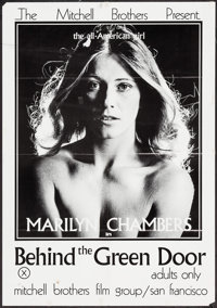 "Behind the Green Door (Mitchell Brothers Film Group, 1972). One Sheet (25"" X 36""). Adult"