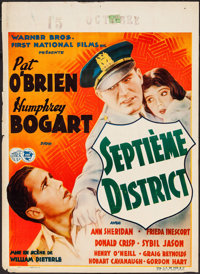 "The Great O'Malley (Warner Brothers, 1937). Pre-War Belgian (24"" X 33.25""). Crime"