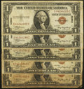 Small Size:World War II Emergency Notes, Fr. 2300 $1 1935A Hawaii Silver Certificates. Five Examples. Very Good or better.. ... (Total: 5 notes)