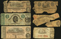 Confederate Notes:Group Lots, Confederate and More Poor or Better.. ... (Total: 6 notes)