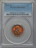 Lincoln Cents, (4)1941-D 1C MS66 Red PCGS. PCGS Population (1063/207). NGC Census: (677/908). Mintage: 128,700,000. Numismedia Wsl. Price ... (Total: 4 coins)