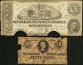 Confederate Notes:1863 Issues, T58 $20 1863.. T63 50c 1863.. ... (Total: 2 notes)