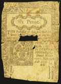 Colonial Notes:Connecticut, Connecticut June 19, 1776 6d Good.. ...
