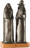 Sculpture, Allan C. Houser (American, 1914-1994). Holder of Knowledge, 1977. Bronze with brown patina. 19-1/2 inches (49.5 cm) high...