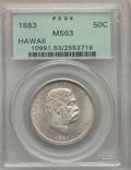 Coins of Hawaii , 1883 50C Hawaii Half Dollar MS63 PCGS....