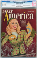 Golden Age (1938-1955):Non-Fiction, Miss America Magazine V1#3 (Miss America Publishing/Marvel/Atlas,1944) CGC VF 8.0 Cream to off-white pages....