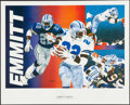 Football Collectibles:Others, Dallas Cowboys Greats Signed Lithographs Lot of 6. ...