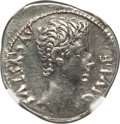 Ancients:Roman Imperial, Ancients: Augustus (27 BC-AD 14). AR denarius (3.70 gm)....