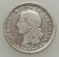 Colombia, Colombia: Republic Pair 1874-85,... (Total: 2 coins)
