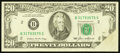 Error Notes:Foldovers, Fr. 2075-B $20 1985 Federal Reserve Note. Very Fine-ExtremelyFine.. ...