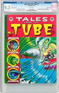 Tales from the Tube #1 Second Printing - Haight-Ashbury Pedigree (Print Mint, 1973) CGC NM- 9.2 White pages