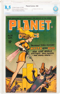 Planet Comics #38 (Fiction House, 1945) CBCS VF+ 8.5 White pages