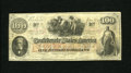 Confederate Notes:1862 Issues, T41 $100 1862. This is a Scroll 1 variety that carries a January 6,1863 date and four rubber stampings on the back from Ric...