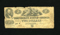 Confederate Notes:1862 Issues, T42 $2 1862. This is a Third Series note with an old-time repair onthe back. Good-Very Good....