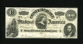 Confederate Notes:1862 Issues, T49 $100 1862. This beautiful example has several light folds, butthe eye appeal of a higher grade. Very Fine. ...