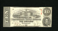 Confederate Notes:1863 Issues, T59 $10 1863. A pinhole is spotted on this beautiful CrispUncirculated example....