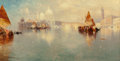 Fine Art - Painting, American:Antique  (Pre 1900), Thomas Moran (American, 1837-1926). Venice, 1887. Oil oncanvas. 12 x 22 inches (30.5 x 55.9 cm). Signed and dated lower...