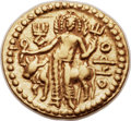 Ancients:Oriental, Ancients: INDIA. Kushan Empire. Vasudeva I (ca. AD 192-225). AV dinar (21mm, 7.97 gm, 12h)....