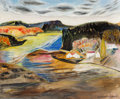 Fine Art - Painting, American:Modern  (1900 1949)  , Marguerite Thompson Zorach (American, 1887-1968). Back River,Georgetown Island, Maine, 1955. Oil on canvas. 20 x 24 inc...