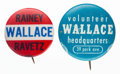 Political:Pinback Buttons (1896-present), Henry Wallace: Name Pins.... (Total: 2 Items)