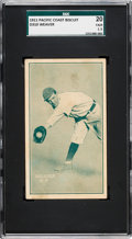 Baseball Cards:Singles (Pre-1930), 1911 D310 Pacific Coast Biscuit Buck Weaver SGC 20 Fair 1.5 - New to The Hobby....