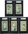 Baseball Cards:Sets, 1911 D310 Pacific Coast Biscuit Baseball Partial Set (51/72) With Rare Blank Back! ...