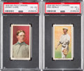 Baseball Cards:Lots, 1909 E95 Philadelphia Caramel PSA Graded Pair (2). ...